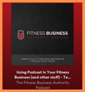 Appearance on Fitness Business Authority