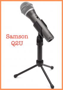 Samson Q2U podcast mic