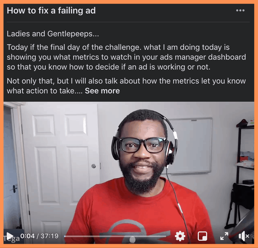 5 Day Challenge Day 5: Maintaining the ad