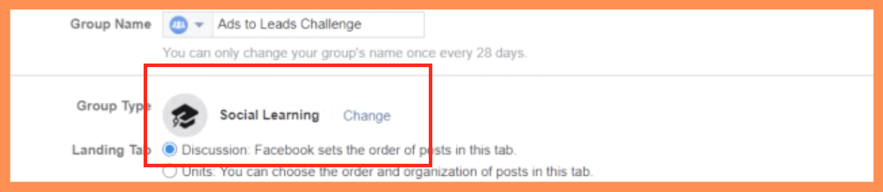 5 Day Challenge FB Group Type