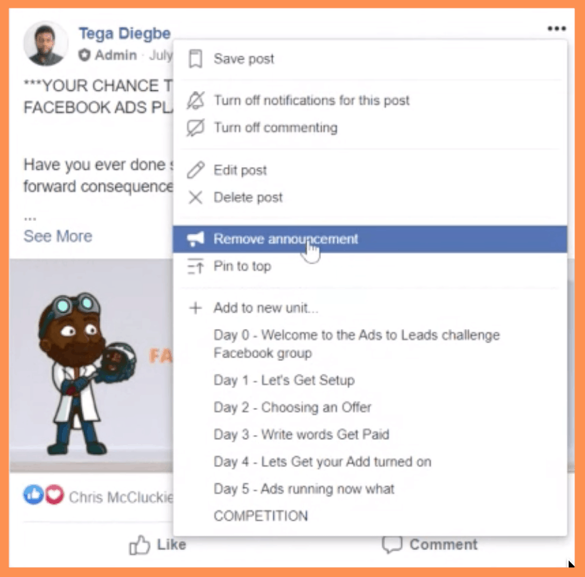 5 Day Challenge FB Group Announcement