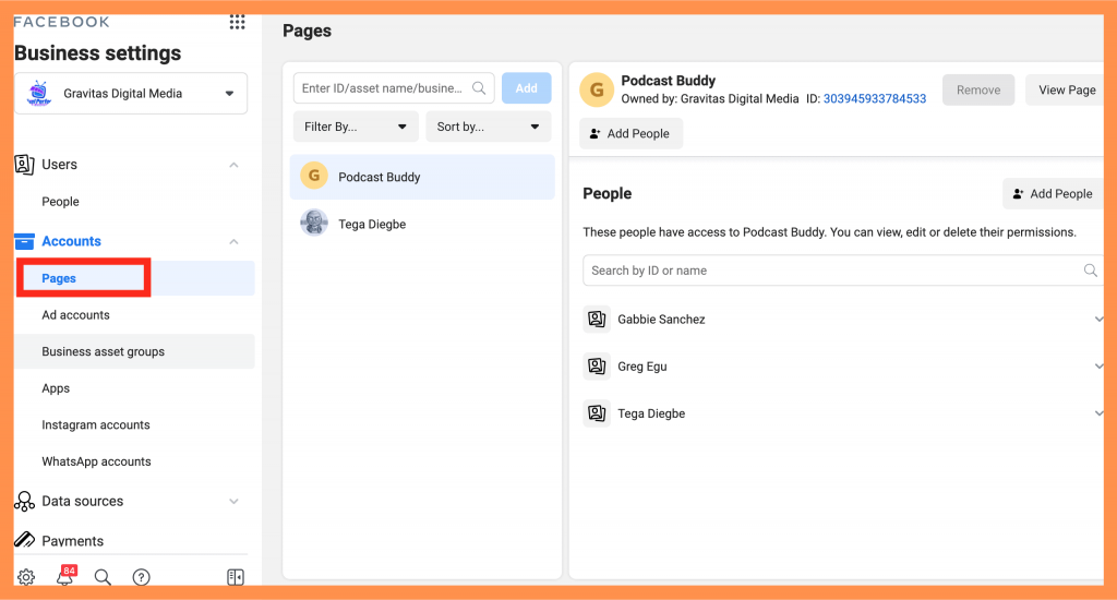 Business Manager PAGES