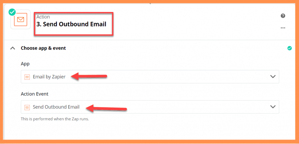 Zapier Email by Zapier Action