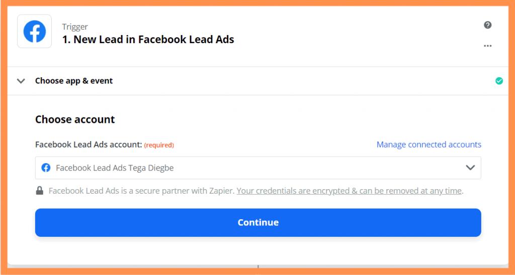 Zapier Connect Ads Account