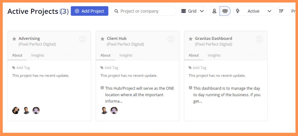 Teamwork Projects Dashboard